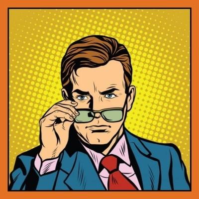 Selbstsicherer-Mann-setzt-seine-Brille-ab
