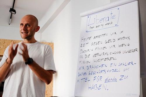 Marco Dworschak beim Alanda Workshop