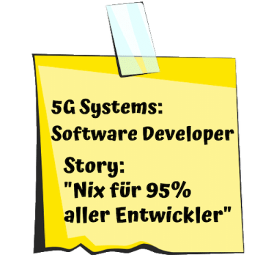 5G Systems Post-it für Software Developer