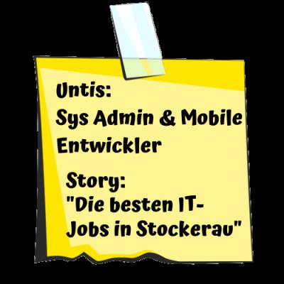 Untis Post-it für System Administrator und Mobil Entwickler