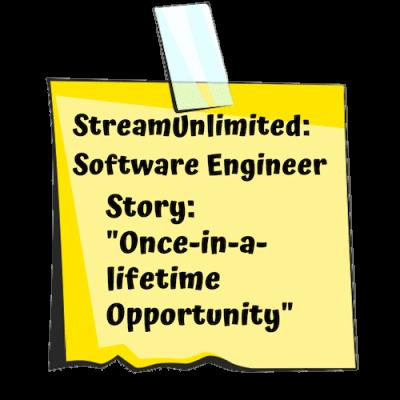 Streamunlimited Post-it für Software Engineer